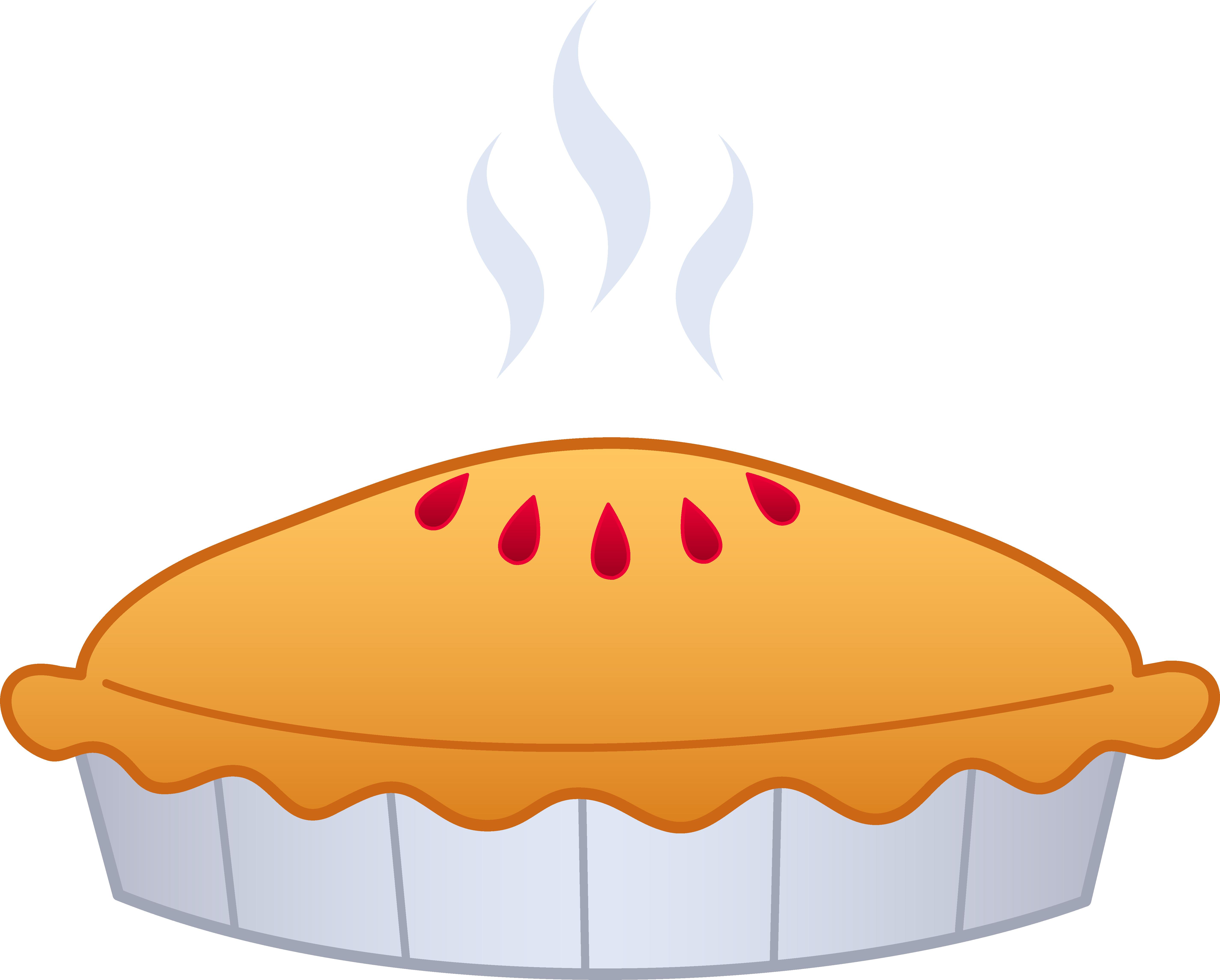 Clipart coffee pie. Pumpkin apple cherry frito