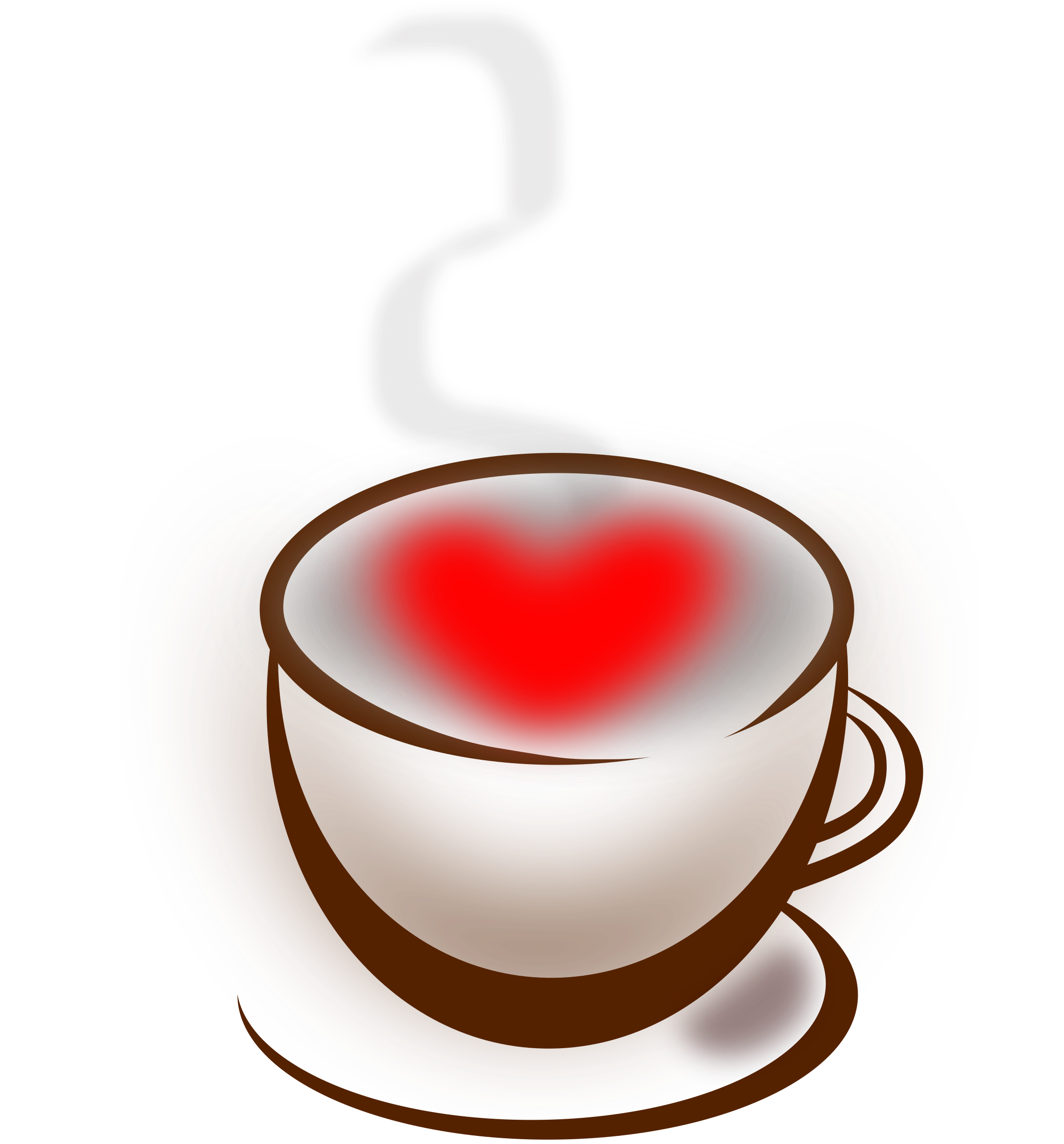Clipart coffee red. Love big image png