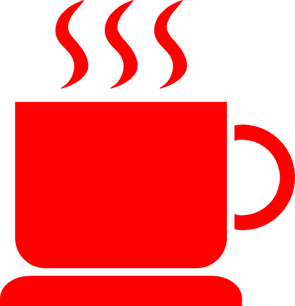 S hot java clip. Clipart coffee red