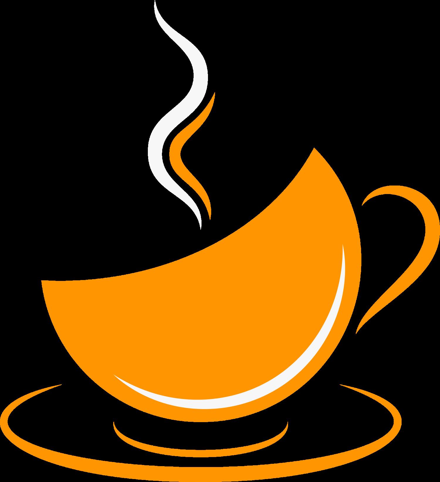 Cup cafe orange clip. Coffee clipart refreshment