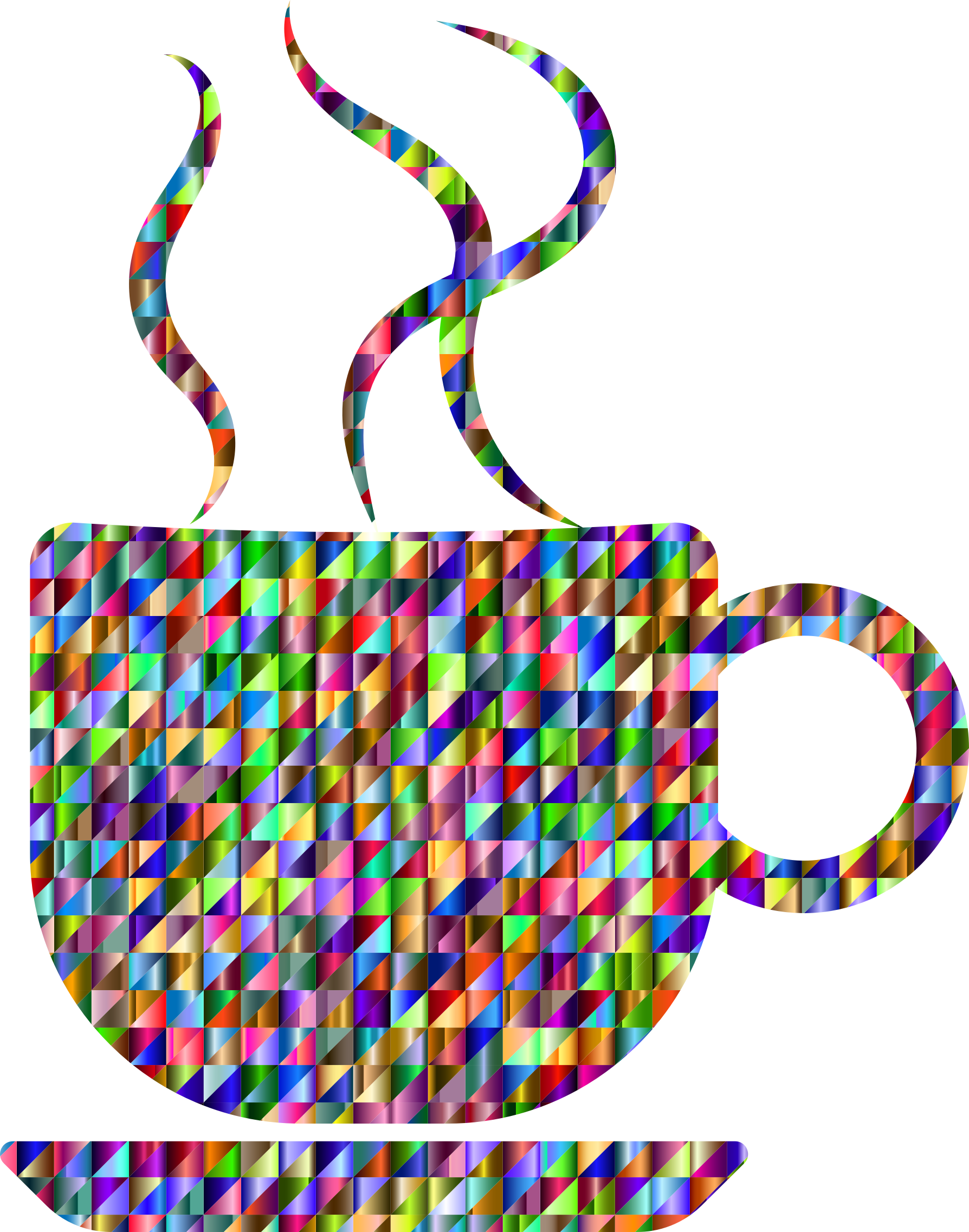 Clipart coffee refreshment. Chromatic triangular cup big