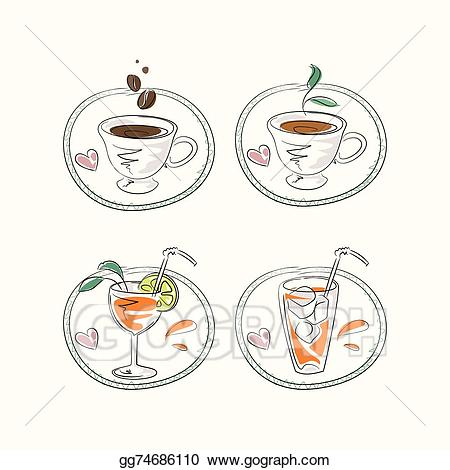 Clipart coffee refreshment. Vector stock hot and