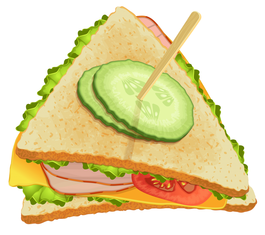 Clipart coffee sandwich. Triangle png free images