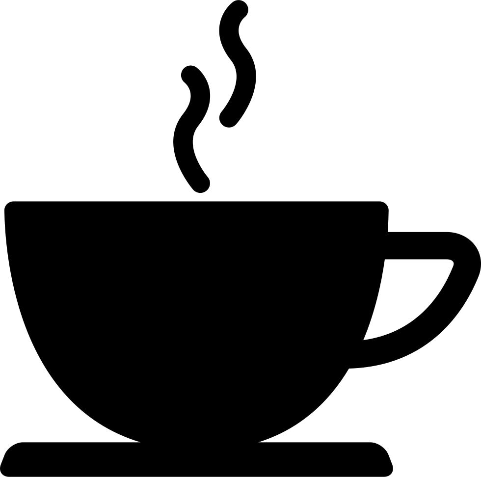 Coffee cup o val. Mug clipart silhouette