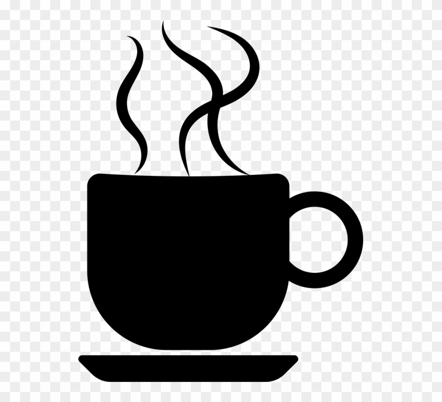 Coffee . Clipart cup silhouette