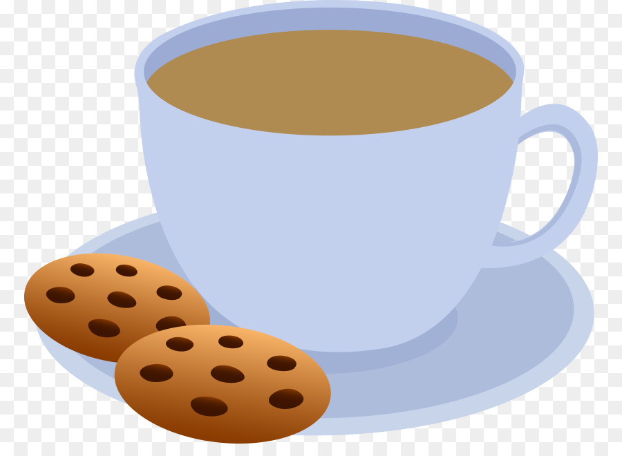 Cup of bakery breakfast. Clipart coffee snack