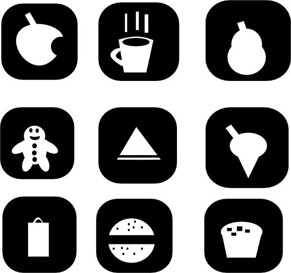 Icons clip art at. Clipart coffee snack