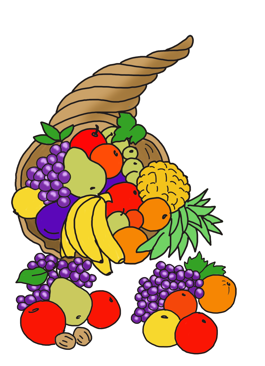 Fascinating thanksgiving table dinner. Hat clipart fruit