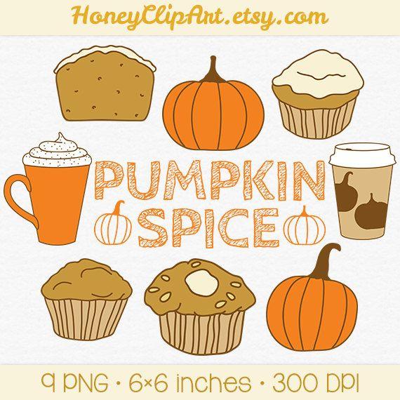 Fall pumpkin spice clip. Muffins clipart autumn