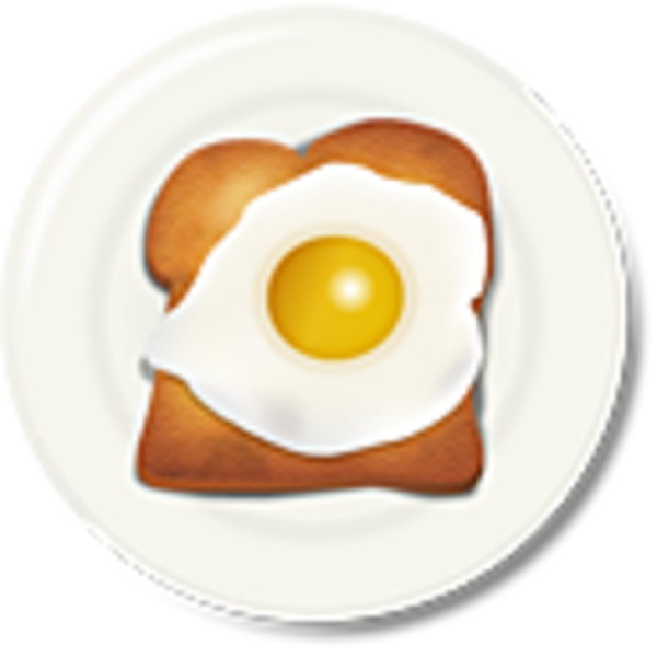 Egg breakfast free images. Clipart coffee toast