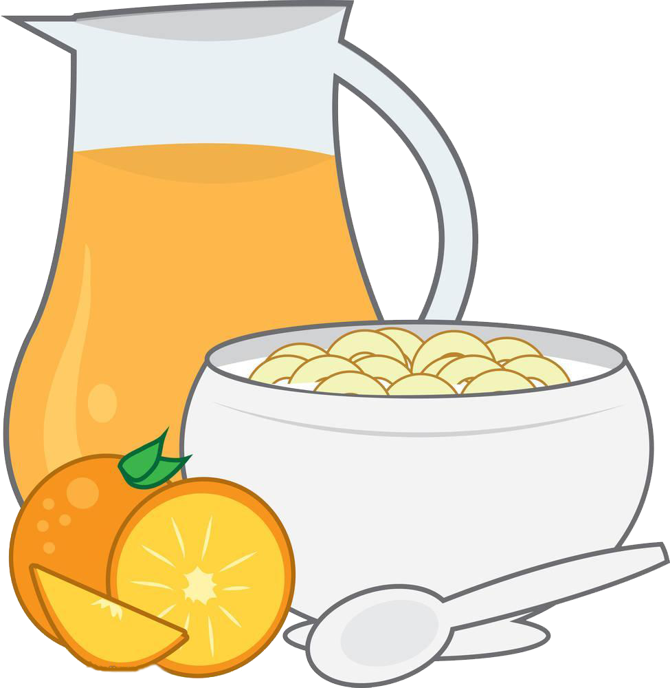 Milk clipart fruit. Orange juice breakfast toast