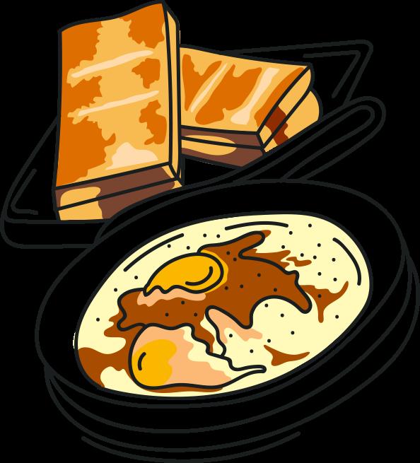 Clipart coffee toast. Food kaya hangover butterbrot