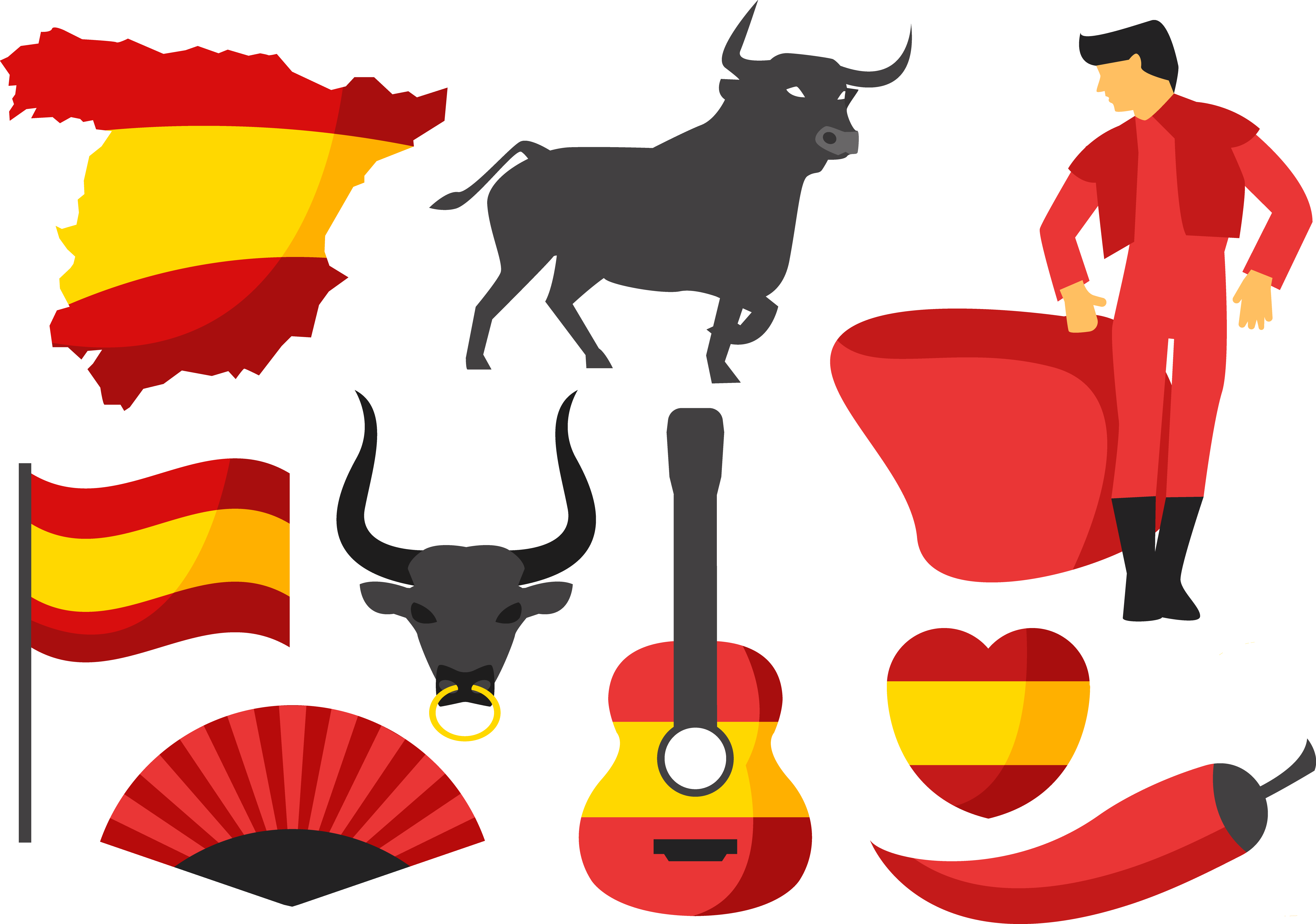 Ox clipart bullfighting spanish. Spain cattle clip art