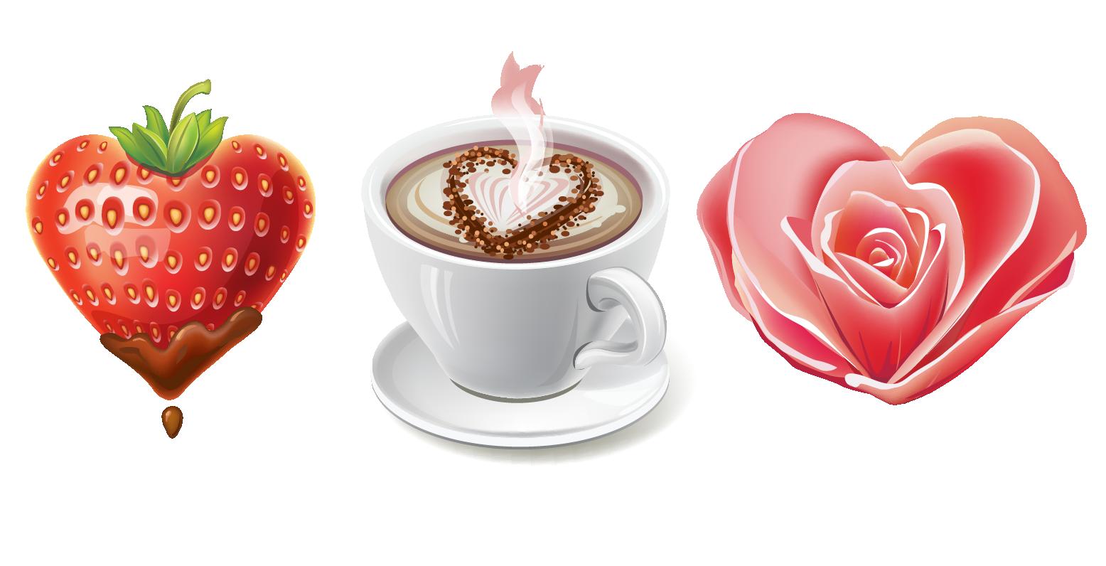 Valentine s heart clip. Clipart coffee valentines day
