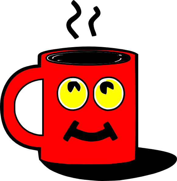Mug red cup pencil. Clipart coffee vector