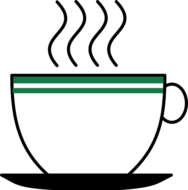 Clipart coffee vector. Steam outline clipground free