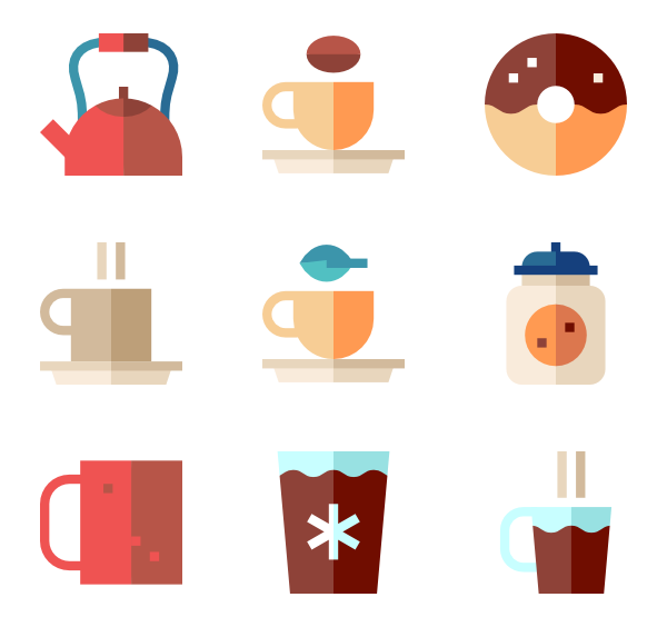 Coffee cup icons free. Cups clipart icon