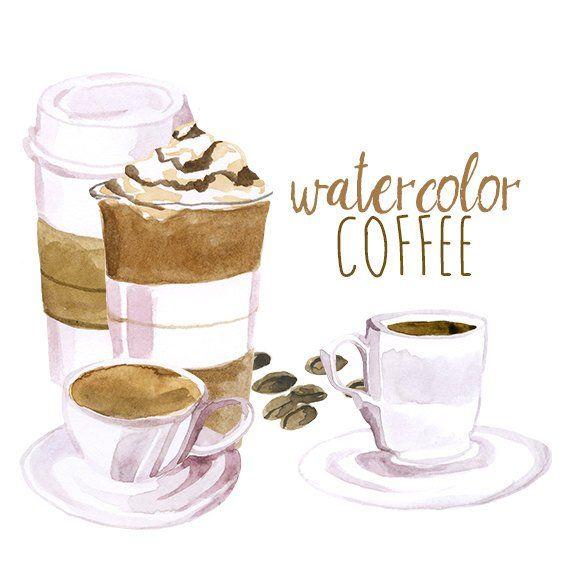 Clipart coffee watercolor. Clip art artistic late