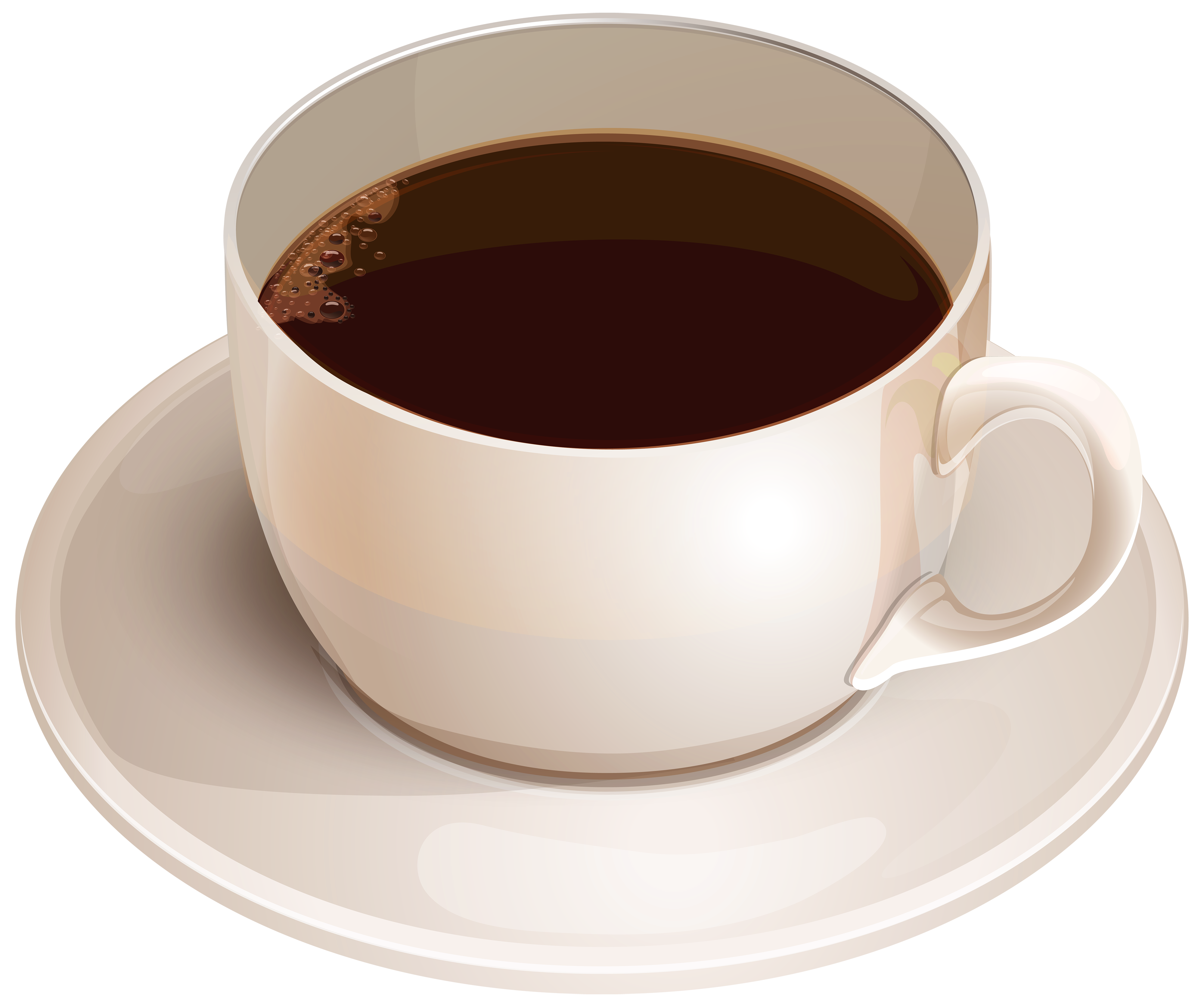 White cup with clipart. Coffee png images