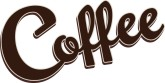 Clipart coffee word. Customize clip art and