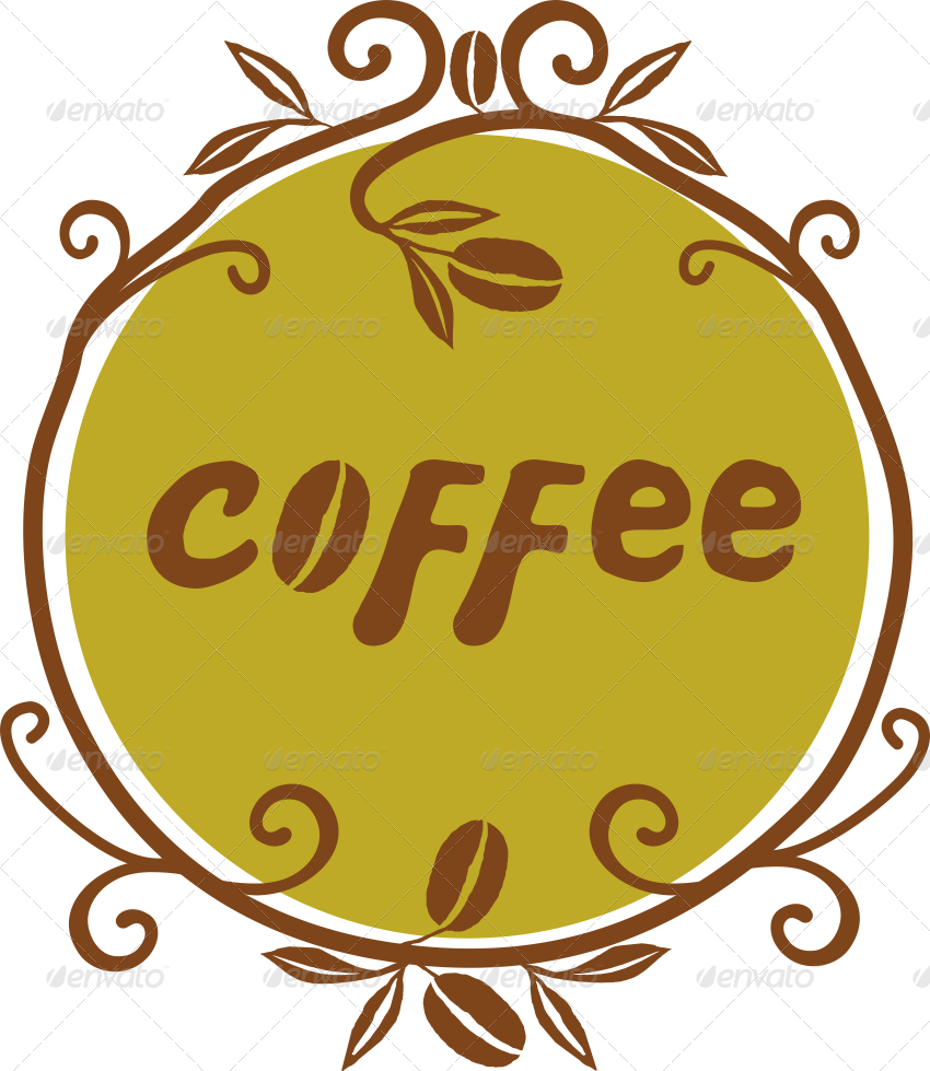 handlettered illustrations by. Clipart coffee word