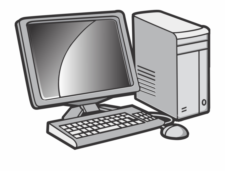 Mouse keyboard desktop computers. Clipart computer