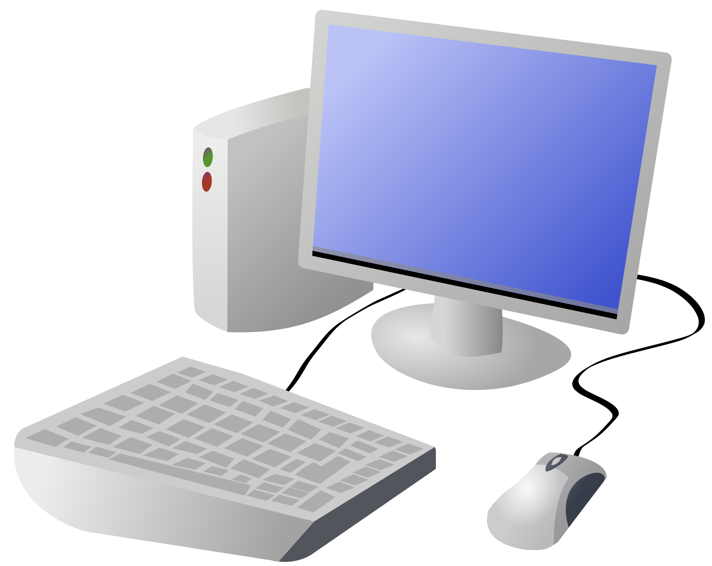 Cartoon computer and desktop. Website clipart animated