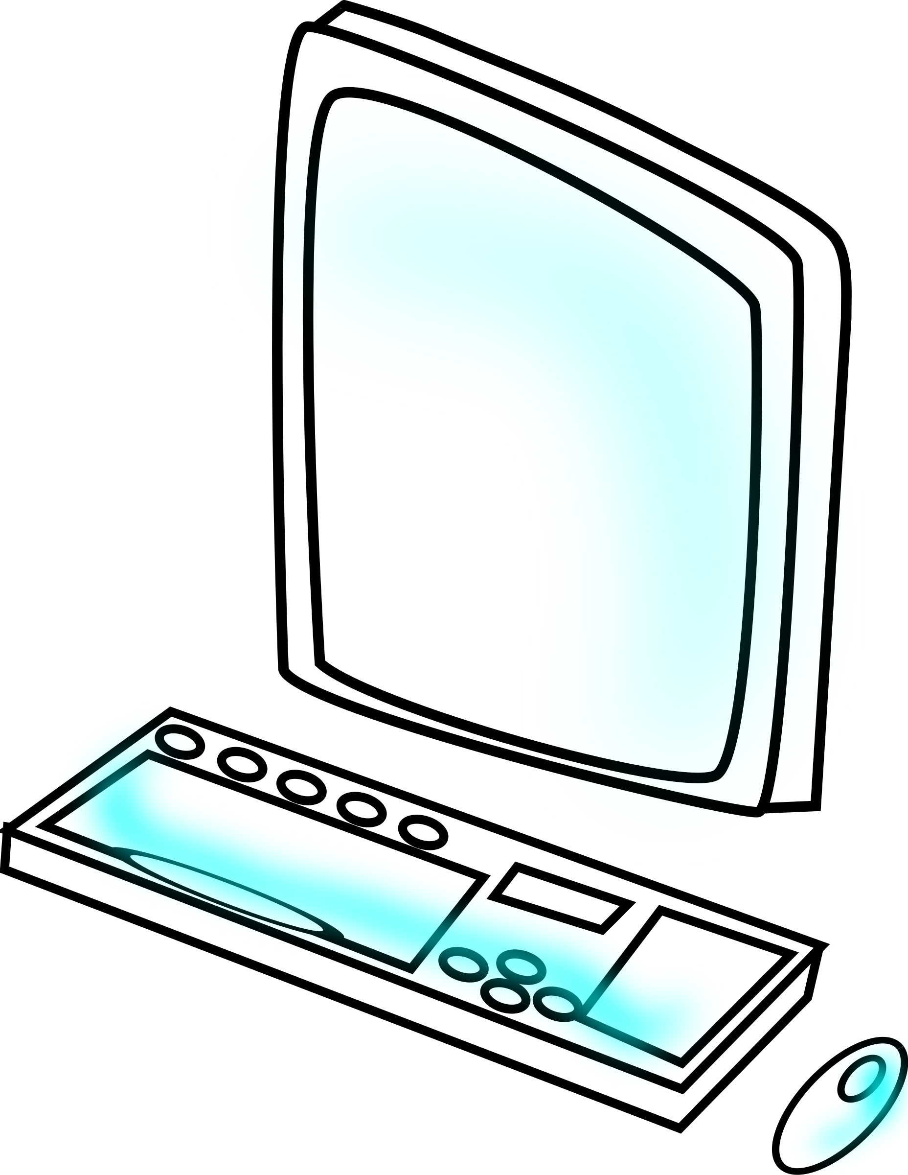 Clipart computer animated. Big image png