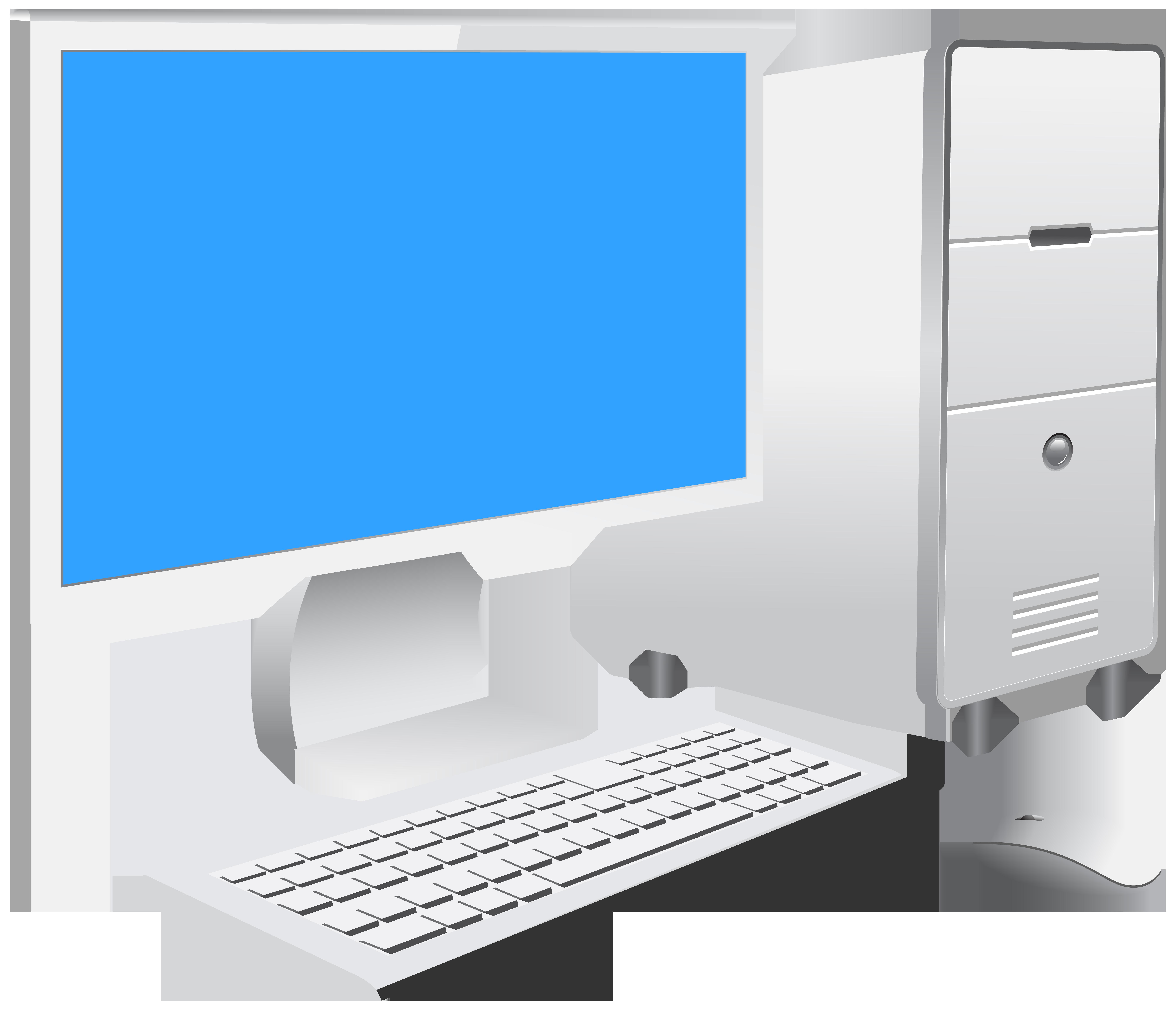 Pc set png clip. Computer clipart transparent background