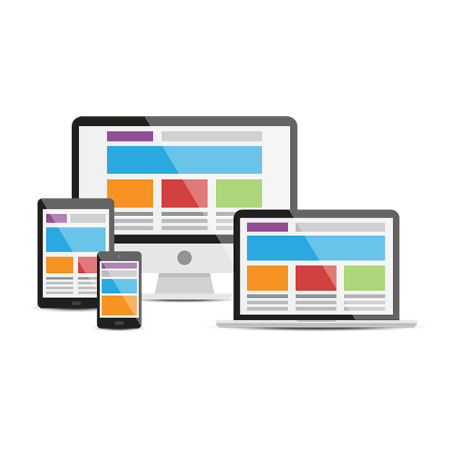 Computer vector png. Devices responsive web design