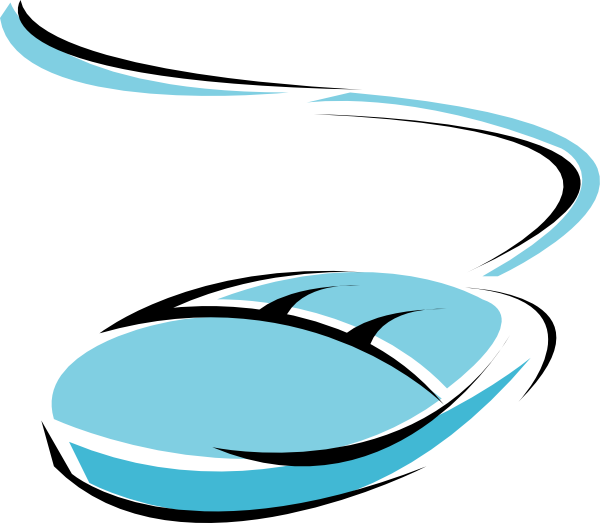 Blue clip art at. Website clipart computer mouse