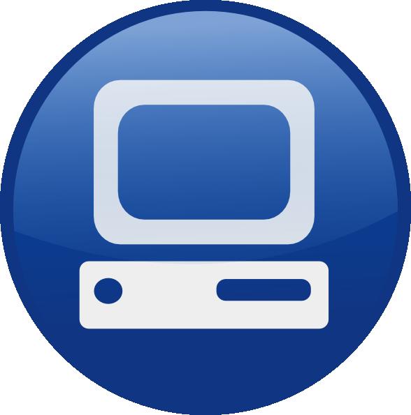 Computers clipart email. Blue computer desktop clip