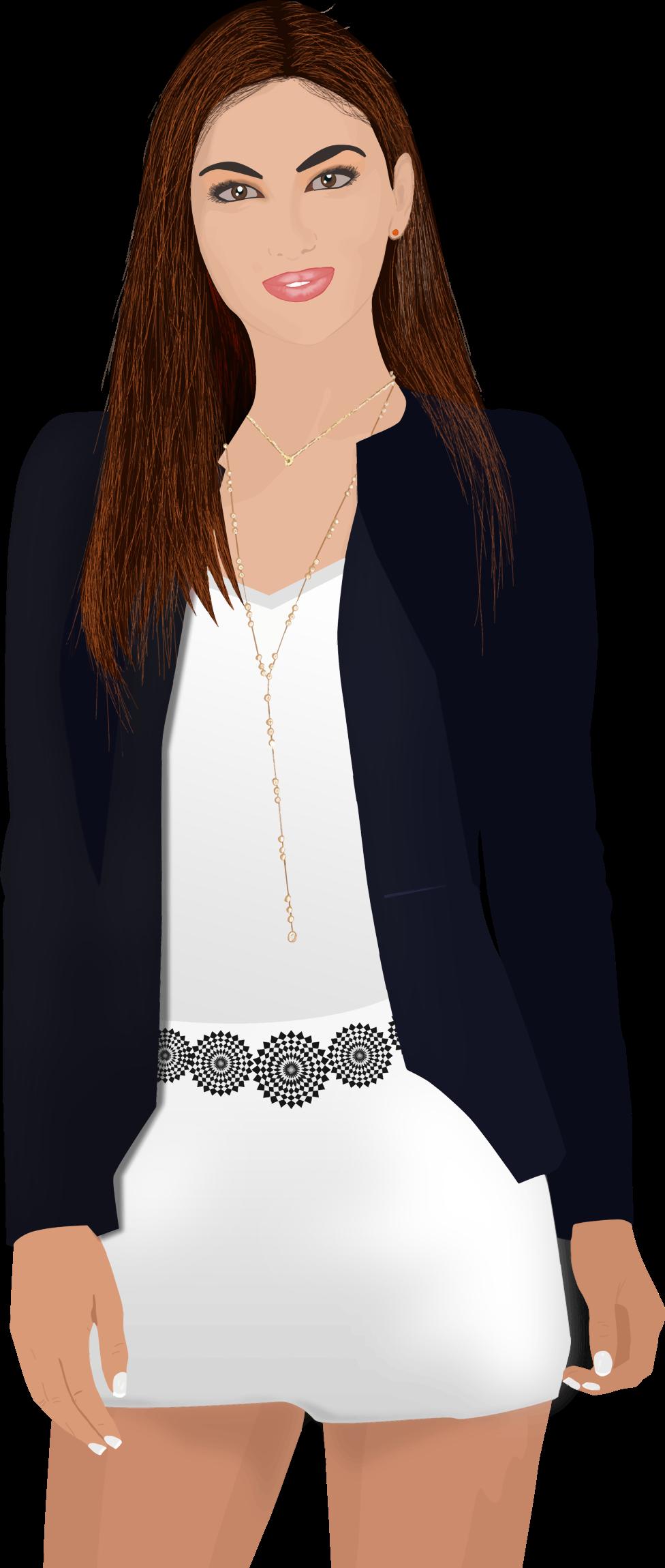 Business woman portrait trace. Professional clipart buisness