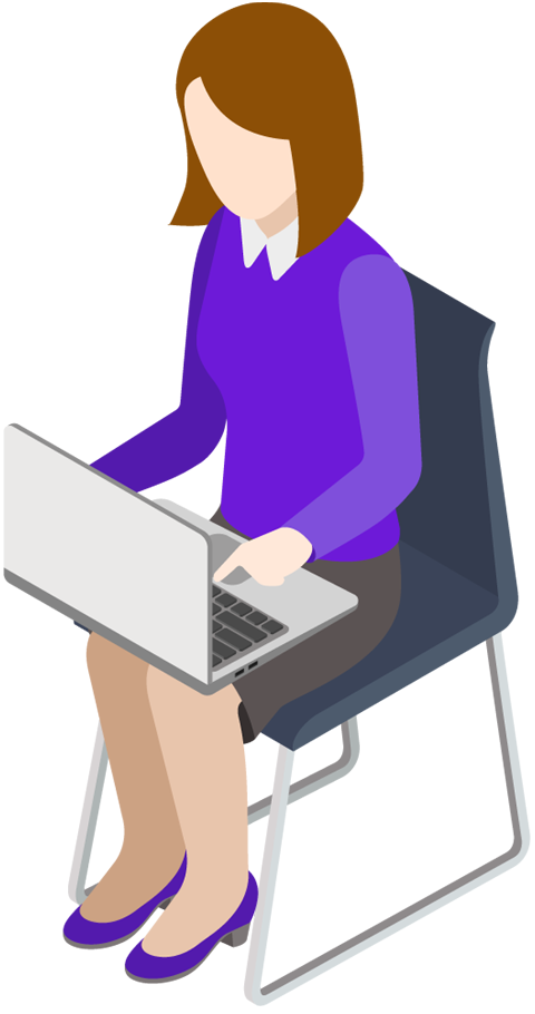 Computers business woman