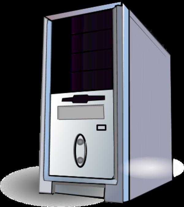 Pc computer case desktop. Computers clipart item