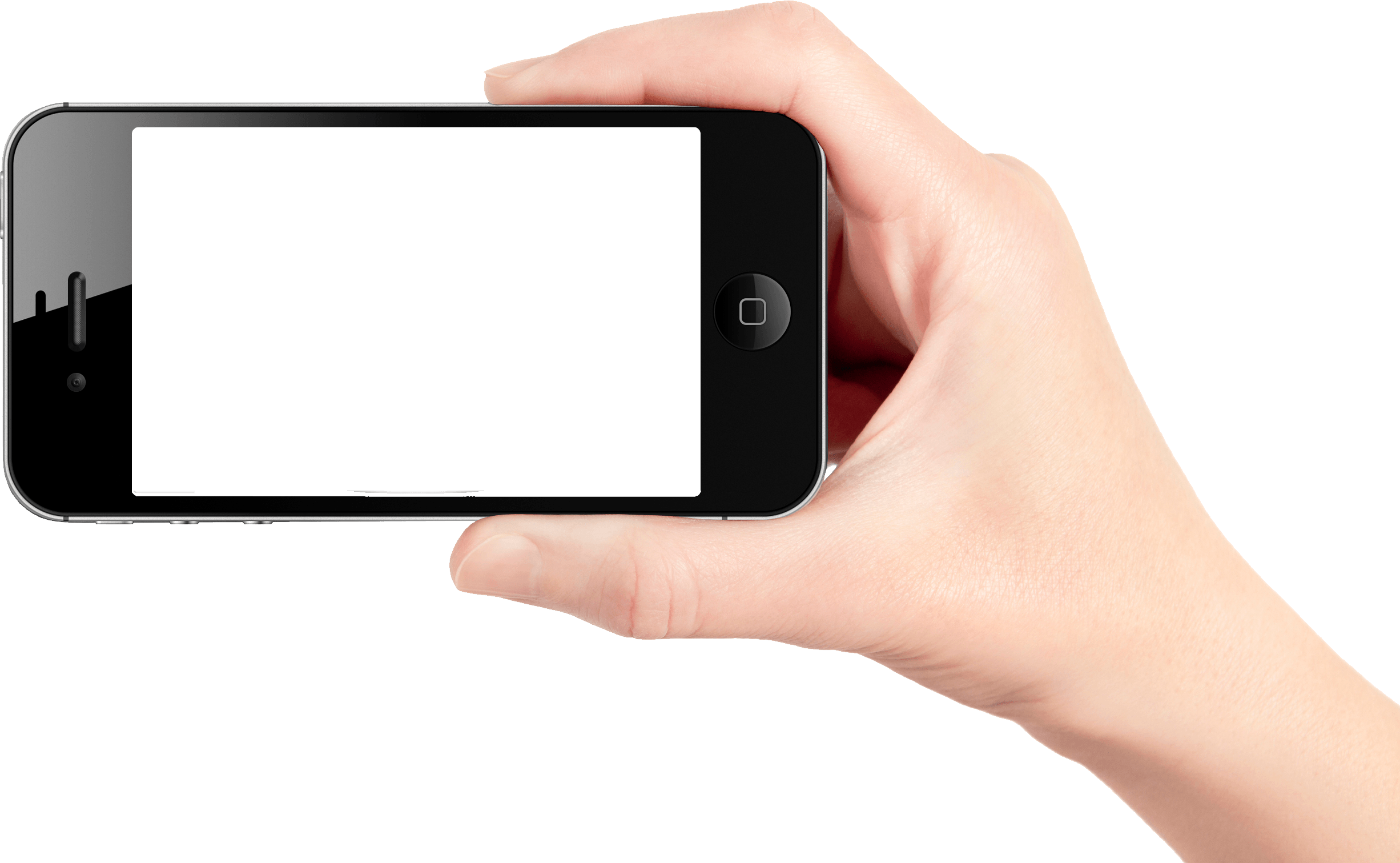Phone in png image. Hand clipart smartphone