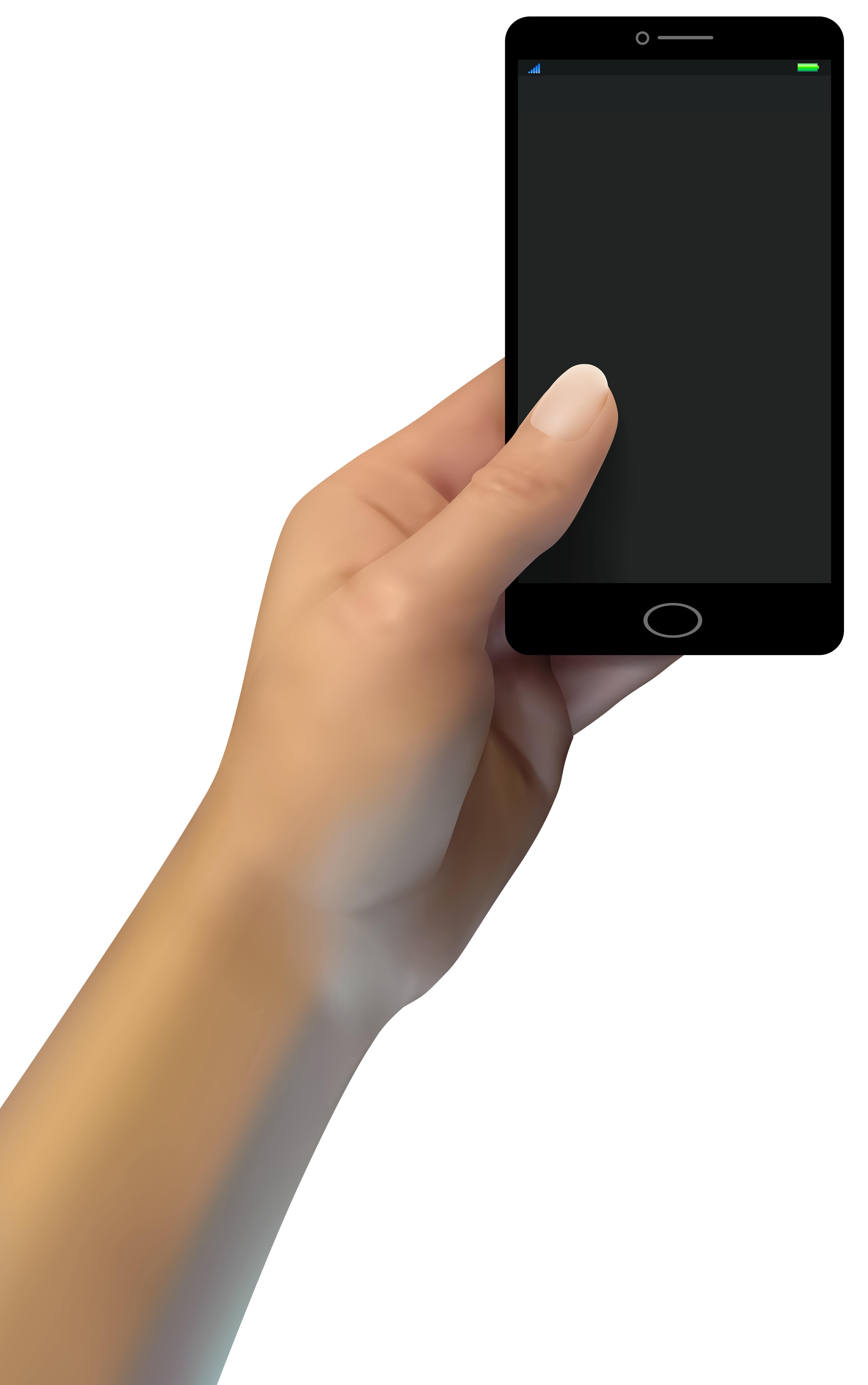 Phone in png image. Hand clipart computer