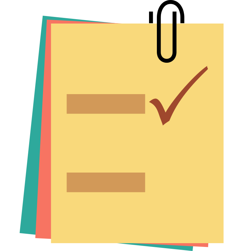 collection of note. Computer clipart checklist