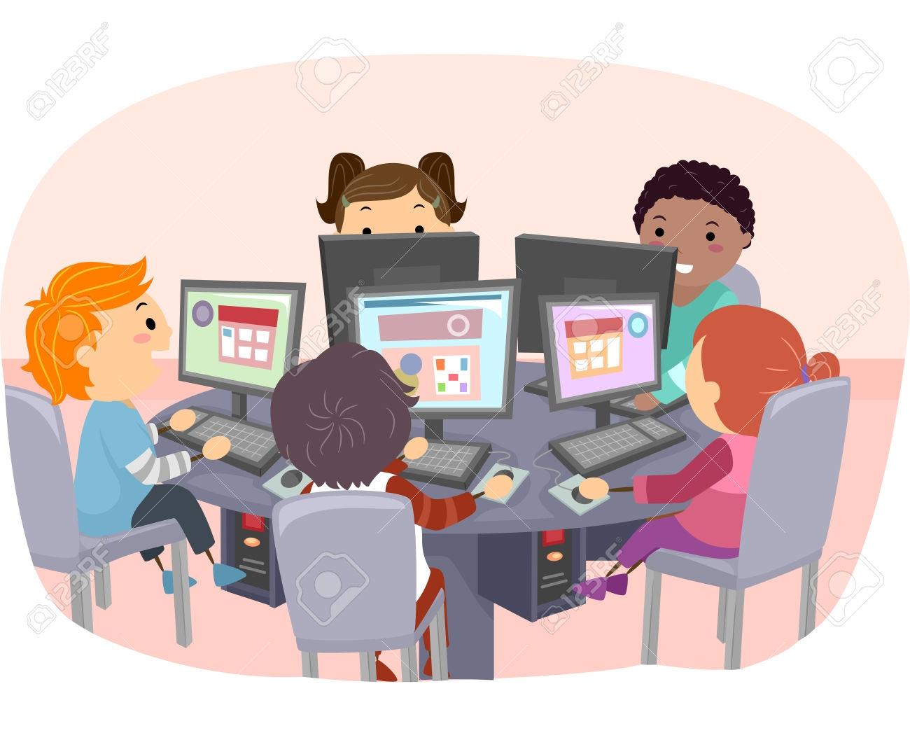 Clipart computer classroom.  lab clipartlook