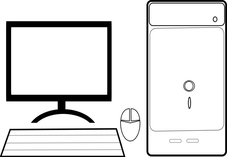 computer clipart outline