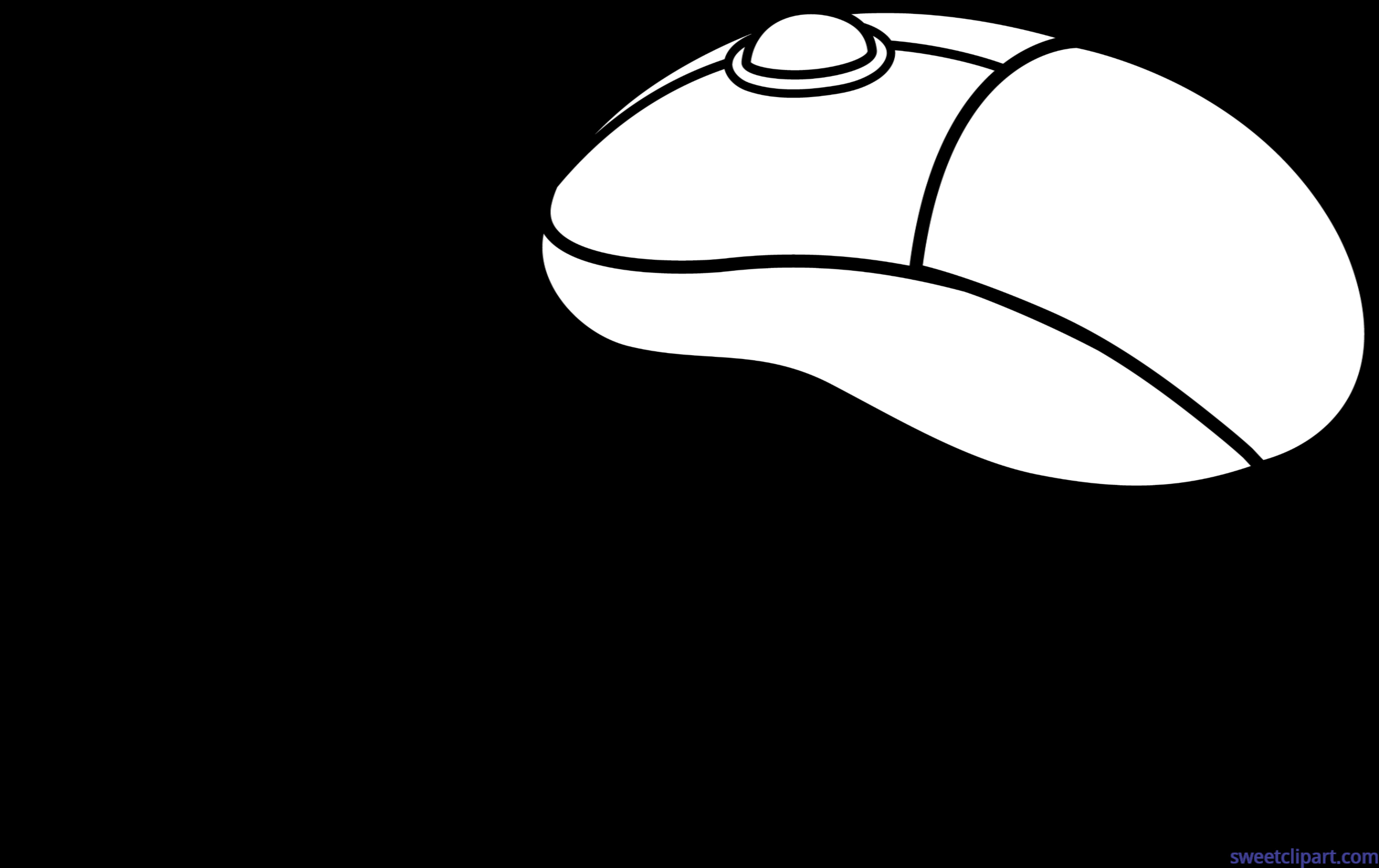 Mouse lineart clip art. Clipart computer coloring