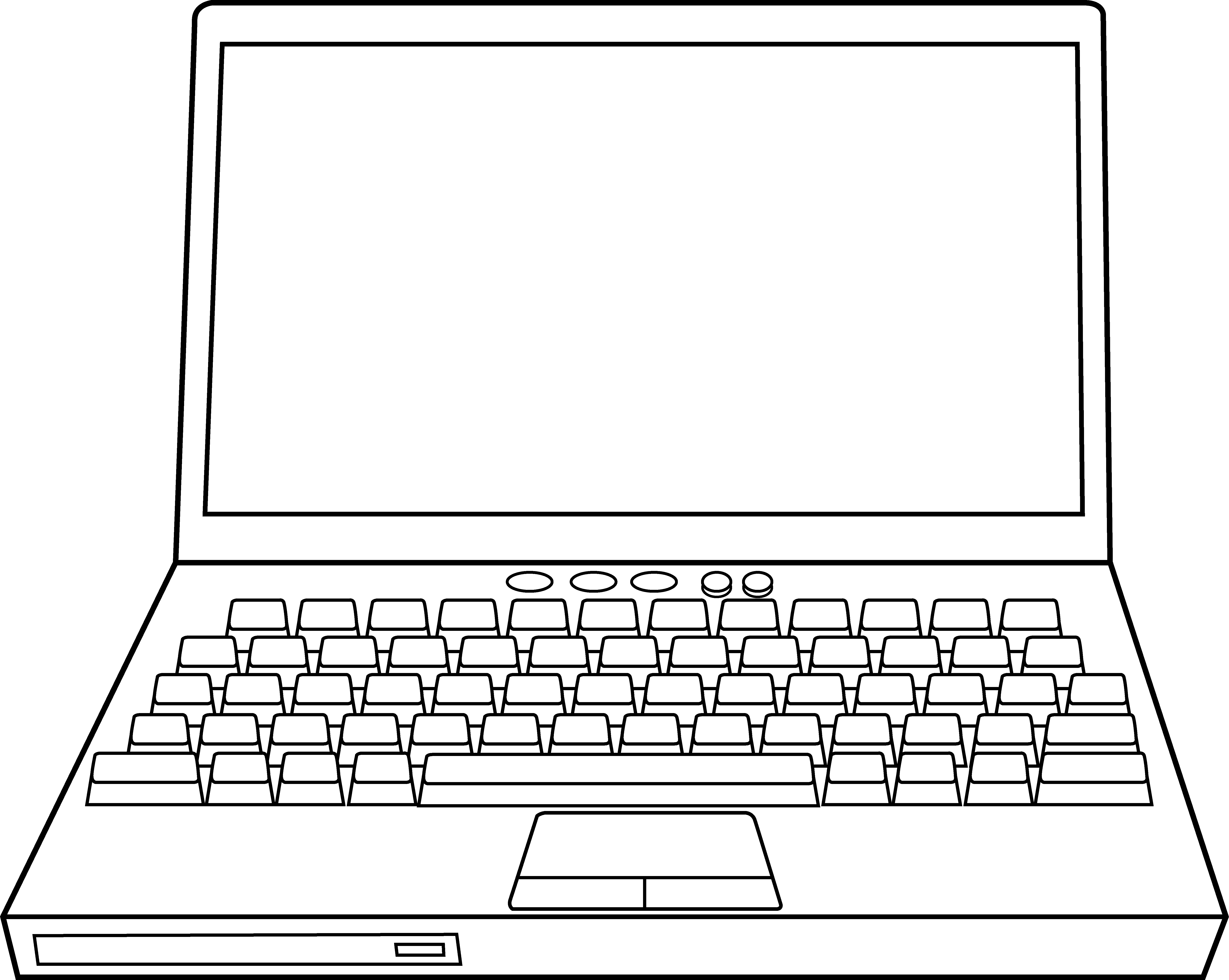 White clipart laptop.  collection of computer