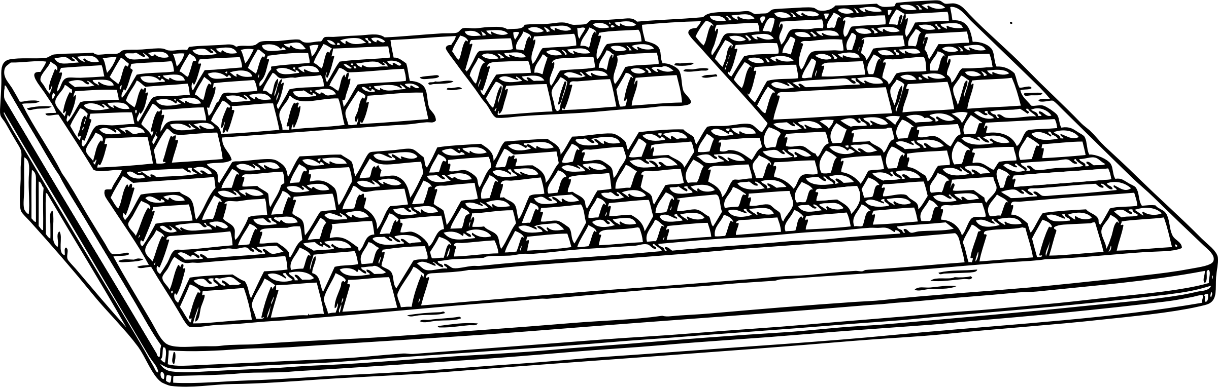 Clipart computer coloring.  collection of keyboard