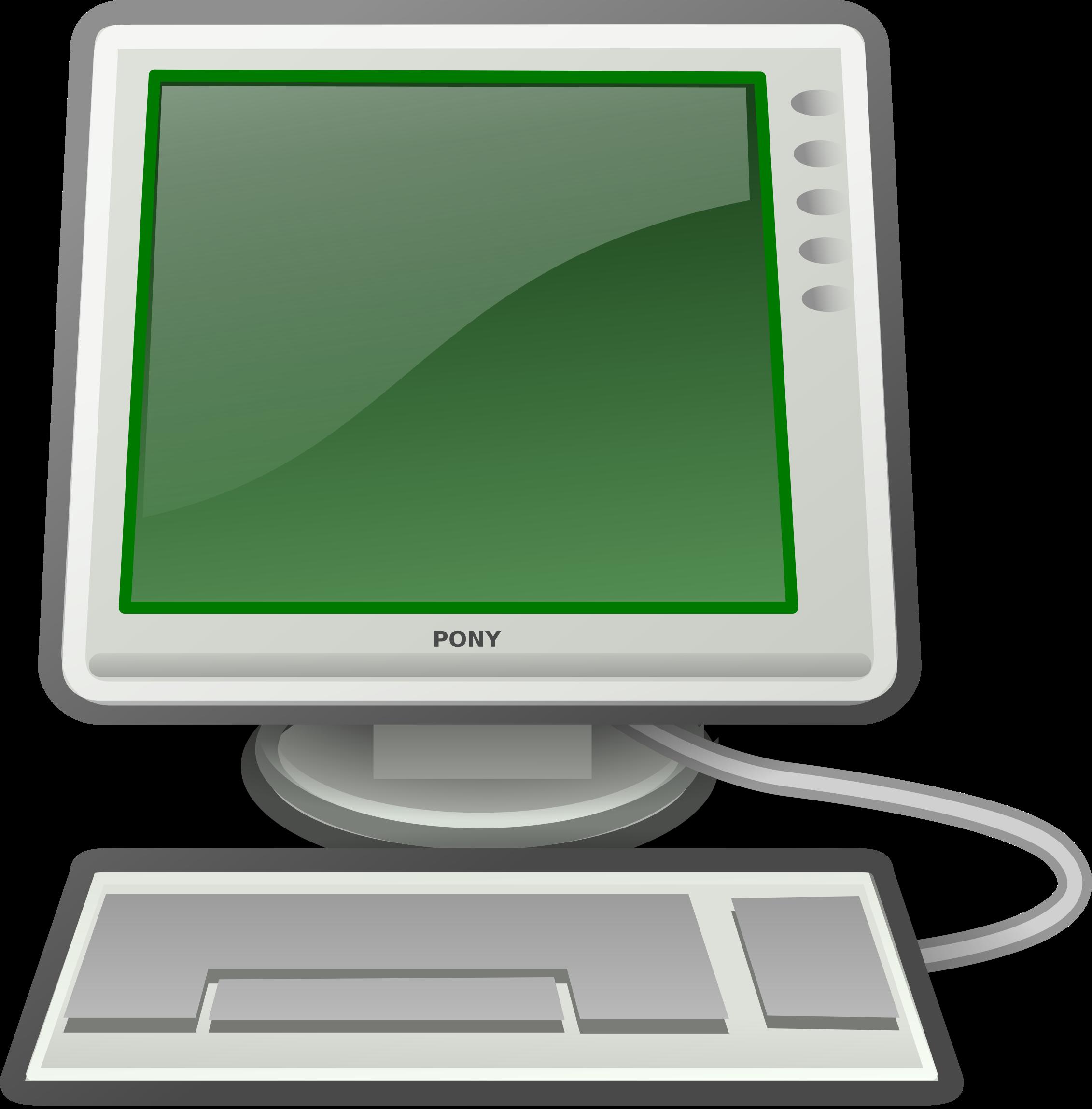 Computer vector png. Clipart tango green big