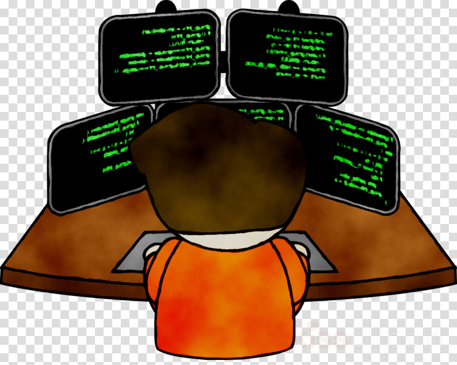 Cartoon illustration . Engineer clipart computer engineer