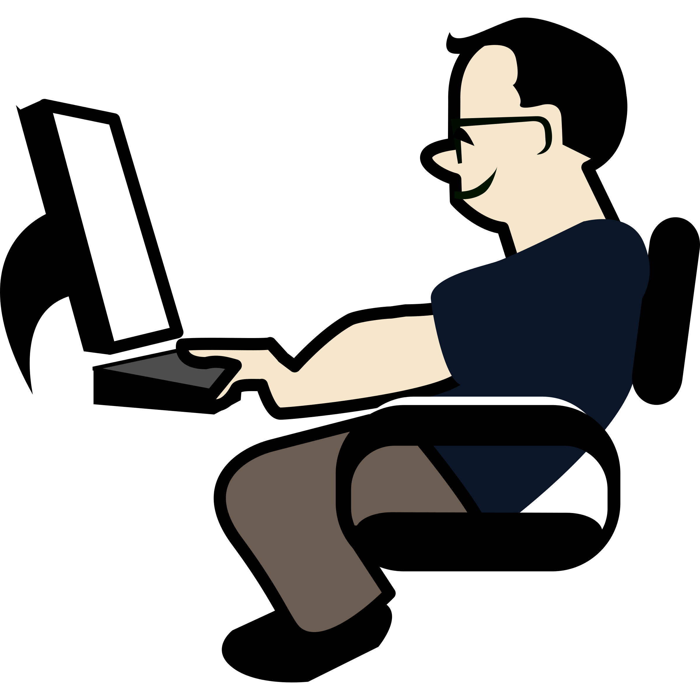 Thenanobel programming big image. Patient clipart sit in