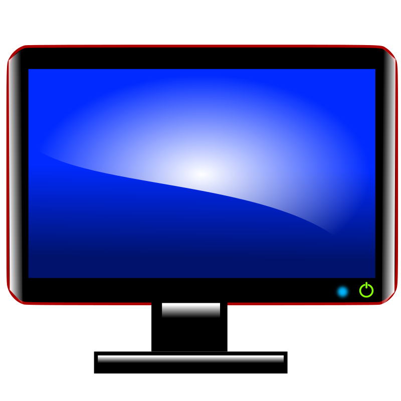 Clipart tv monitor. Pc computer screen png
