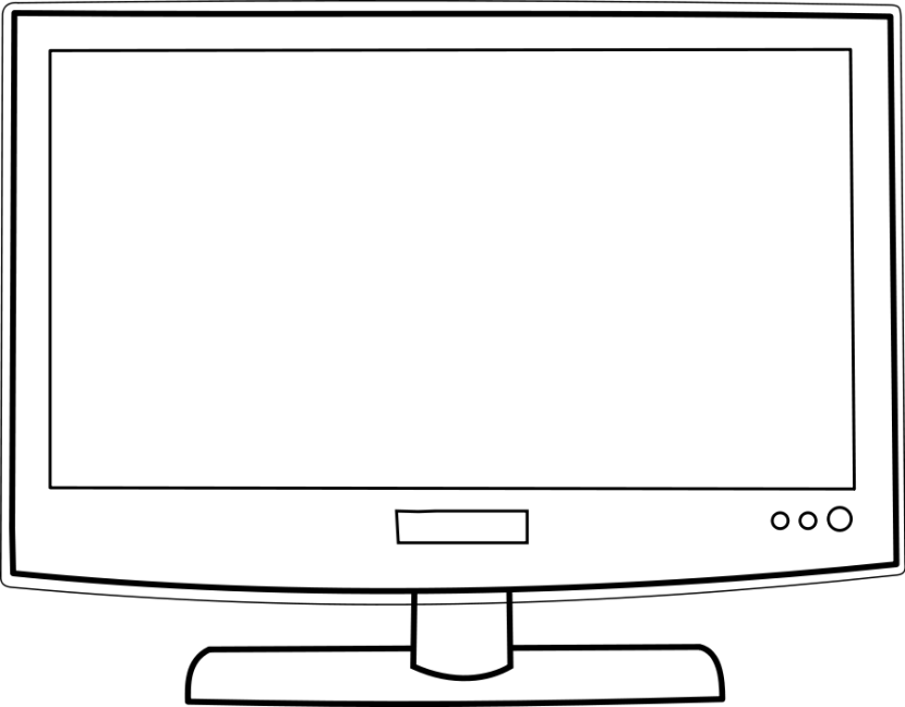 Computer monitor black and. Television clipart tv lg