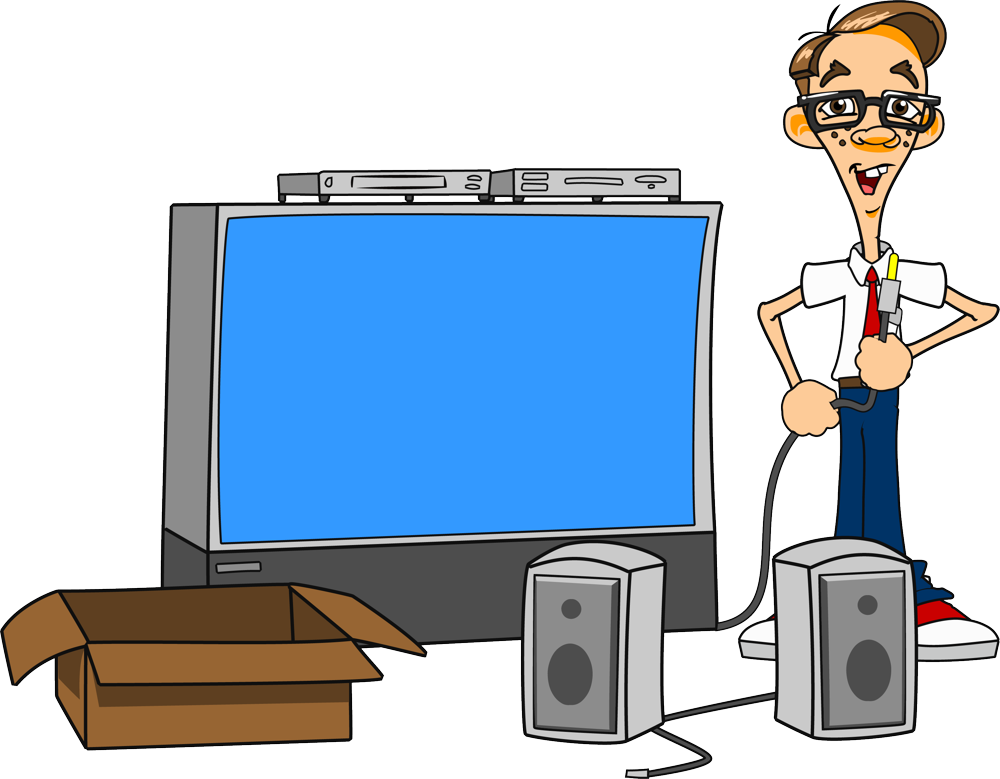 Worry clipart visual. Onetechshop audio video services