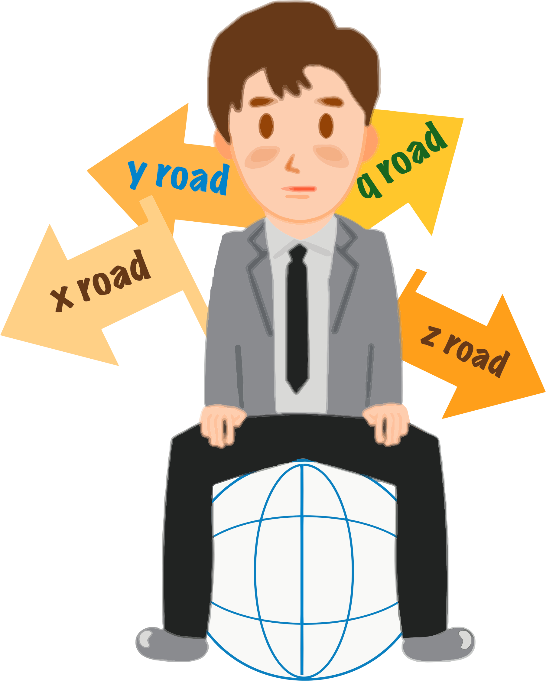 Confused clipart lost item. Confusion crossroads icons png